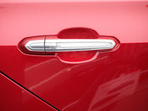 Red car door Royalty Free Stock Image