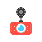 Red car dvr icon Royalty Free Stock Photos