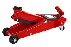 Red car Floor Jack Royalty Free Stock Image