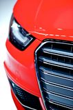 Red Car Front Closeup. Red Modern Vehicle Design Stock Images