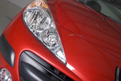 Red Car Front Light Royalty Free Stock Photos