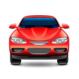 Red car front view  on white vector Royalty Free Stock Photography