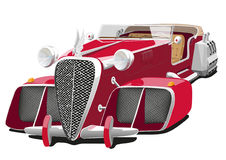 Red car of the future Royalty Free Stock Photos