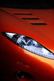 Red Car headlight Royalty Free Stock Image