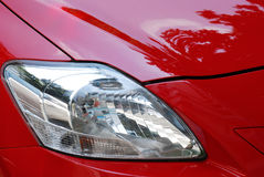 Red Car Headlights Royalty Free Stock Photo