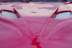 Red car hood shaped as a fox head Royalty Free Stock Image