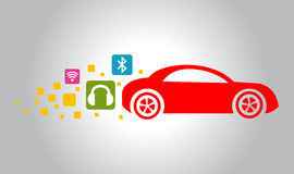 Red car icon Royalty Free Stock Photo