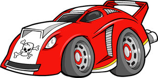 Red Car Illustration. Red Street Car Vector Illustration Stock Photography