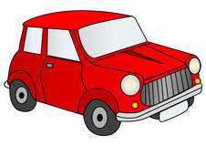 Red car illustration Royalty Free Stock Image