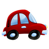 Red car illustration royalty free stock images