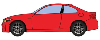 Red Car royalty free illustration