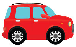 Red Car. The red car illustration on a white background Royalty Free Stock Image