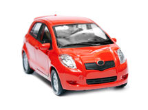 Red car isolated. Model of red car is isolated on a white background Royalty Free Stock Image