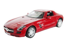Red car, isolated Royalty Free Stock Photography