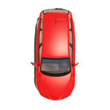 Red Car Isolated on White Background Royalty Free Stock Images