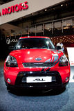 Red car Kia Soul Royalty Free Stock Photo