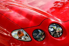 Red car lights detail Stock Photography