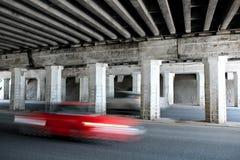 Red car motion blur Stock Photos