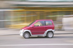 Red car, Nice, France Royalty Free Stock Photography