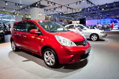 Red car Nissan Note Royalty Free Stock Photos