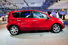 Red car Nissan Note Stock Photos