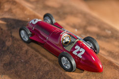 Red car of the Nuvolari era Royalty Free Stock Photo