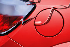 Red car petrol lid. vector Royalty Free Stock Images