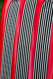 Red car radiator grill Royalty Free Stock Photography