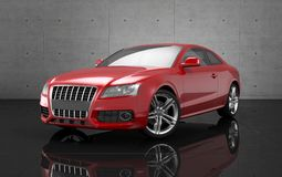 Red car. On back background Royalty Free Stock Photography