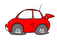 Red car repairs illustration Royalty Free Stock Photography