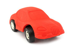 Red car rubber eraser Stock Photo