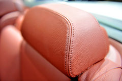 Red car seat. Detail of a luxury car interior Royalty Free Stock Image