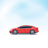 Red Car Side View Royalty Free Stock Photo