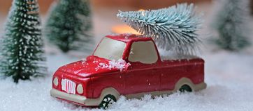 Red, Car, Snow, Motor Vehicle stock photo