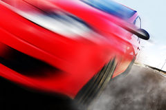 Red car and speed Stock Photography
