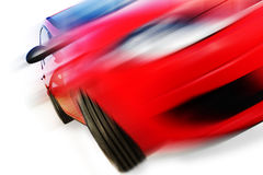 Red car and speed Stock Images