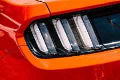 Red Car Stop Rear Light. View Royalty Free Stock Photos