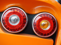 Red car taillights Royalty Free Stock Photos