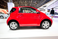 Red car Tayota iQ Stock Images