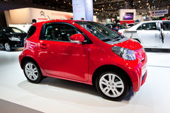 Red car Tayota iQ Royalty Free Stock Photo