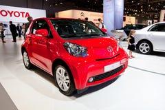 Red car Tayota iQ Stock Photo
