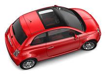 Red car - top angle Royalty Free Stock Images