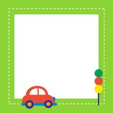 Red car with traffic light Royalty Free Stock Photography