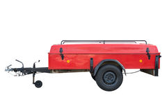 Red car trailer isolated on white background Royalty Free Stock Photography