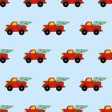Red car with tree pattern Stock Photos