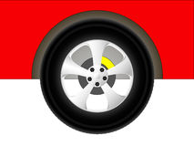 Red car wheel Royalty Free Stock Photo