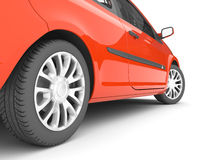 Red car on a white background royalty free illustration