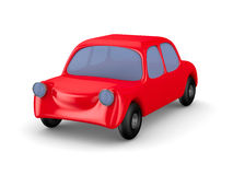 Red car on white background. Isolated 3D Stock Photography