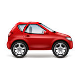 Red car  on white vector Royalty Free Stock Photos