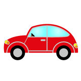 Red car. With windows, wheels, lights, bodywork and steering wheel Royalty Free Illustration